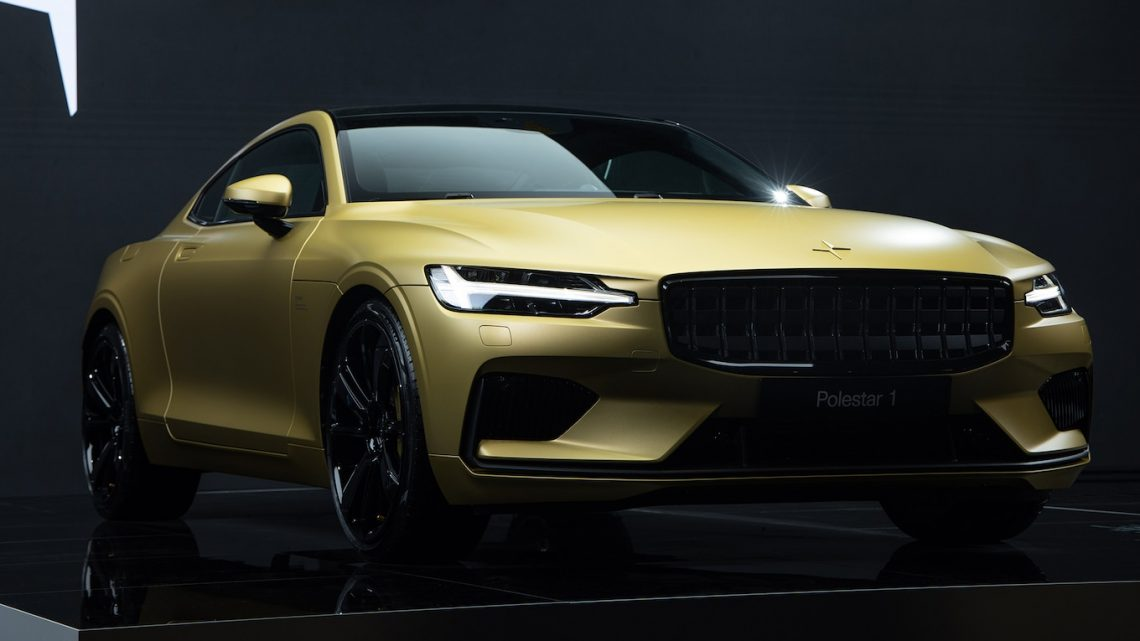 Polestar Sends Its 1 Plug-In Super Coupe Off Into a Golden Sunset