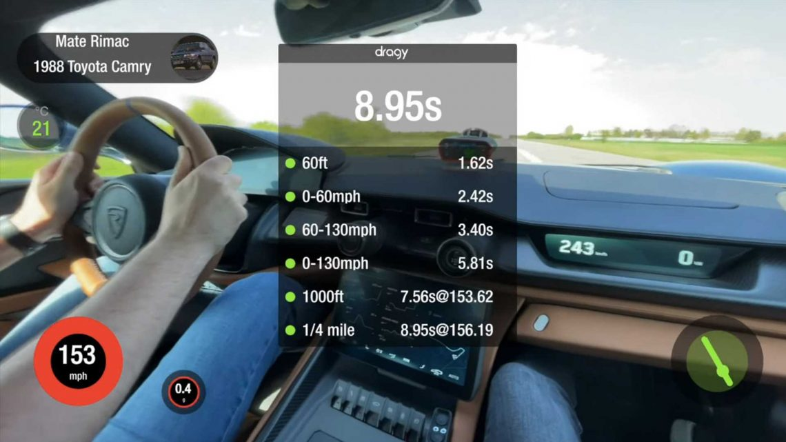 Rimac C_Two Does Blistering Acceleration Runs, Quicker Than Bugatti Chiron