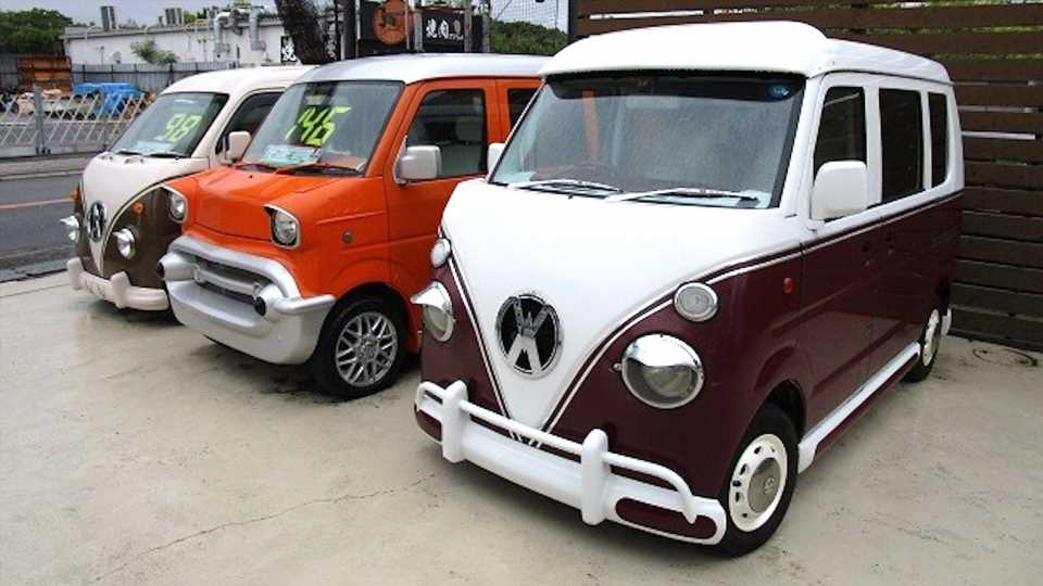 These Retro-Style Vans Are Actually Japanese Kei Cars Underneath