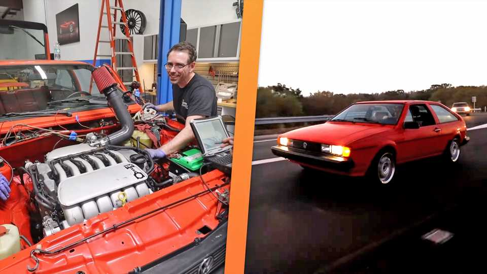 VR6-Swapping a VW Scirocco in Just Four Days Is a Truly Grueling Task