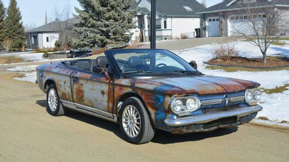 2004 Chrysler Sebring With a Chevy Corvair Body and Airbrushed Patina Hurts the Soul