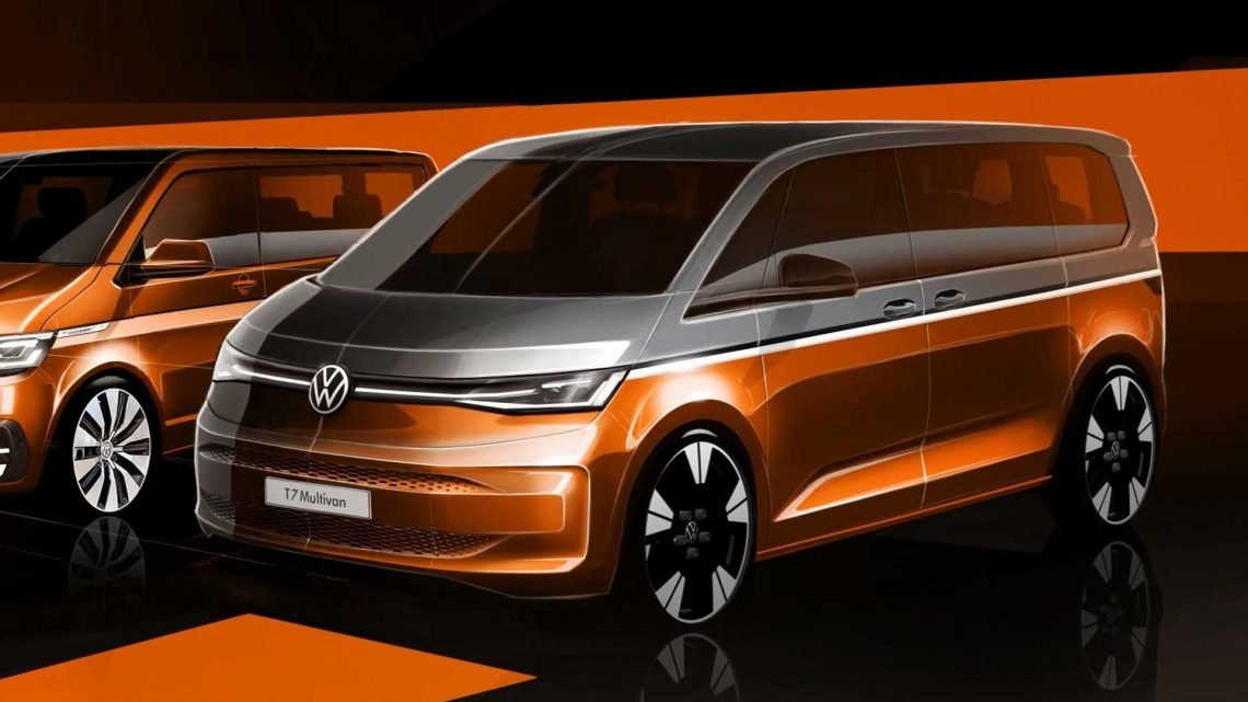 2022 Volkswagen T7 Multivan eHybrid Teased With Pure Electric Mode