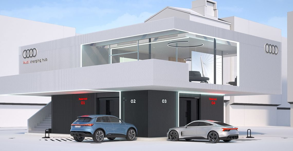 Audi Previews Luxurious Charging Hub for EVs