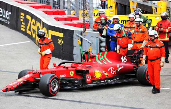 Charles Leclerc fears gearbox damage will thwart Monaco pole   Planet F1
