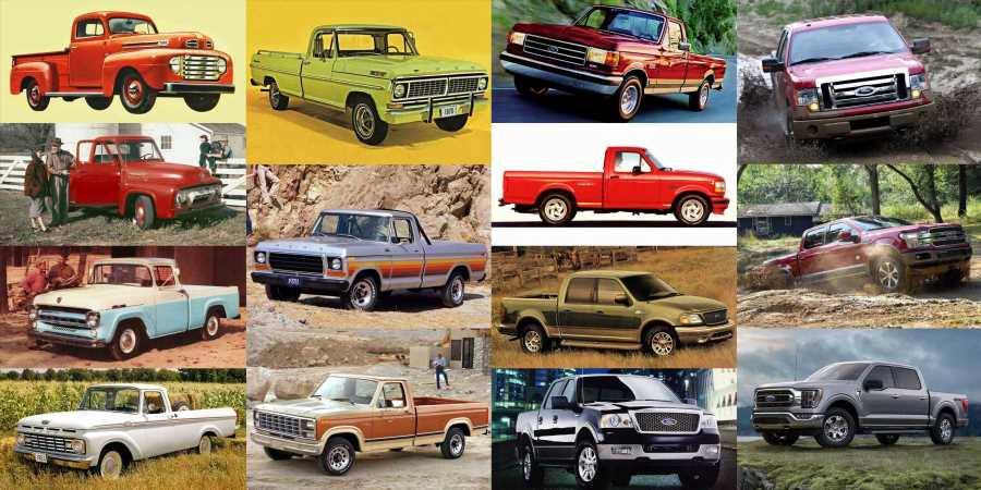 Ford F-Series Trucks: A Quick Visual Guide to All 14 Generations