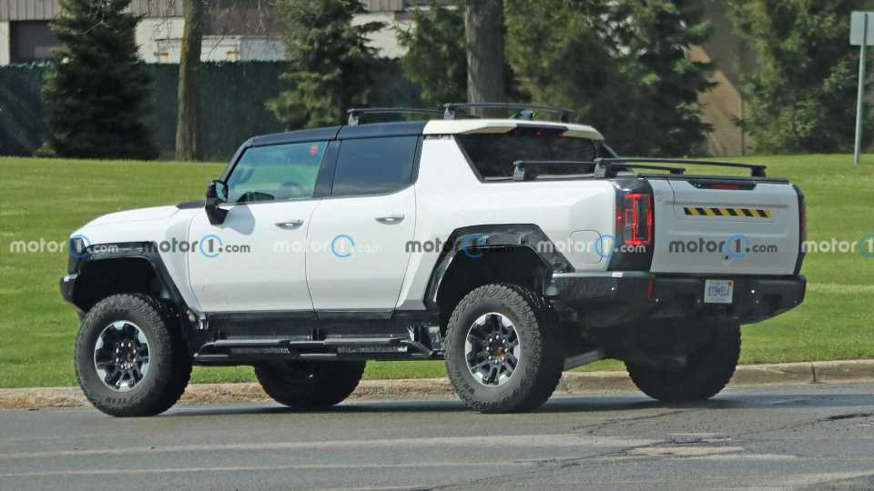 GMC Hummer EV Spied Testing With Accessories, Four-Wheel Steering