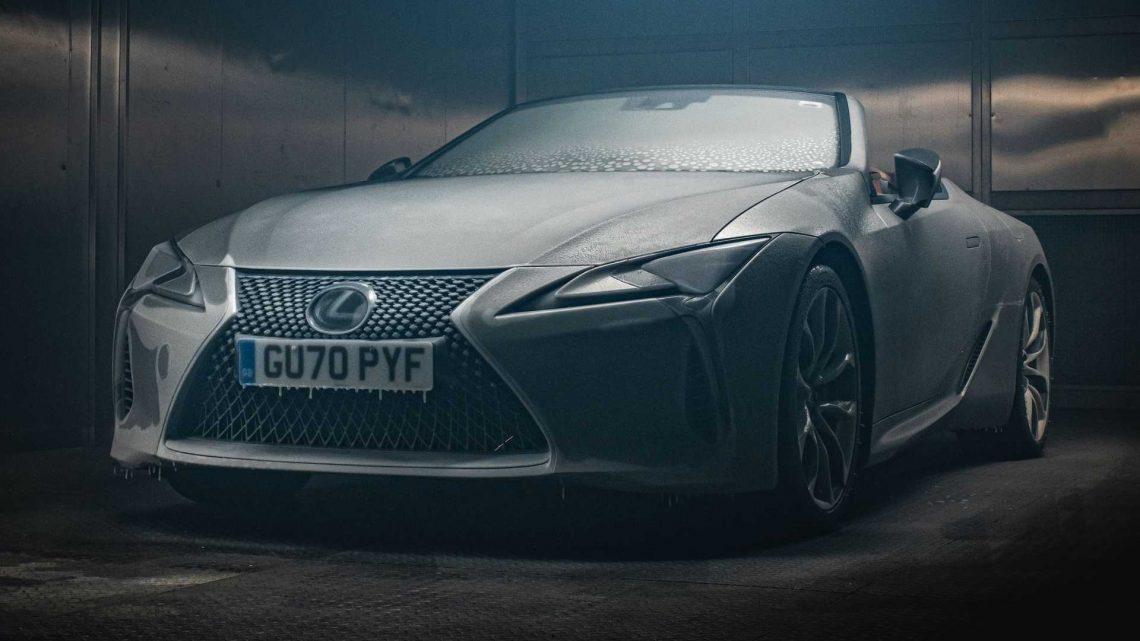 Lexus LC Convertible Hits The Road After 12 Hours In A Refrigeration Chamber