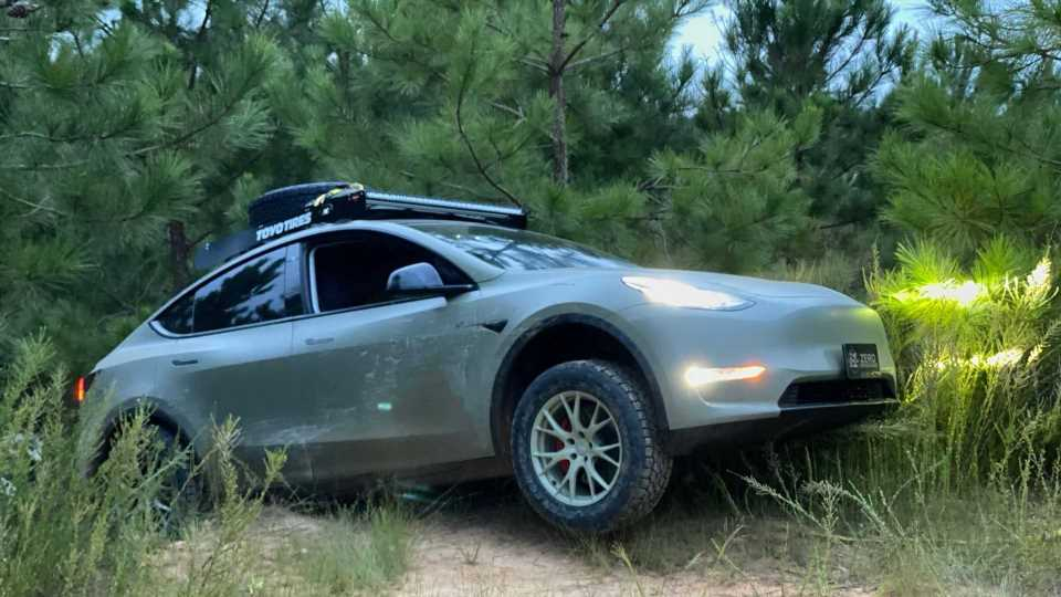Lifted Tesla Model Y Off-Road Assist Put Through Paces In Moab