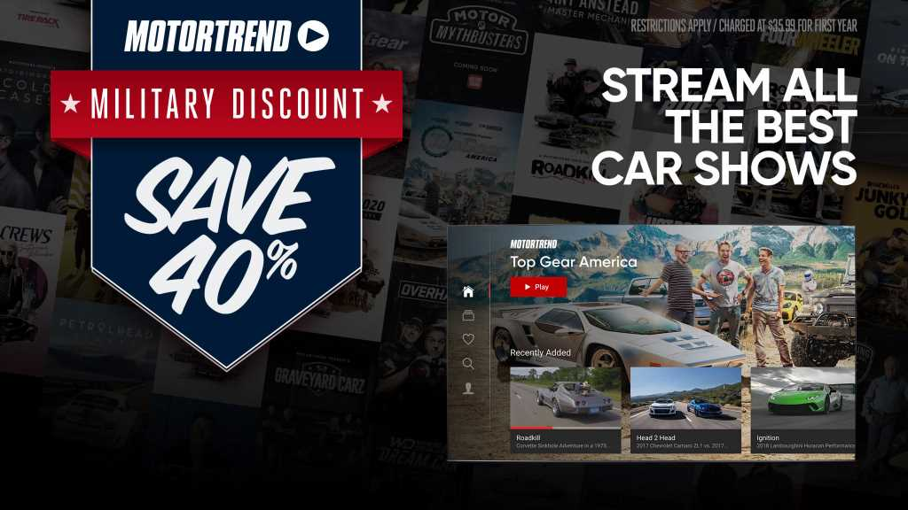 Military Discount for the MotorTrend App!