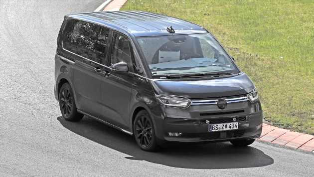 New 2021 Volkswagen Transporter T7 spied at the Nurburgring