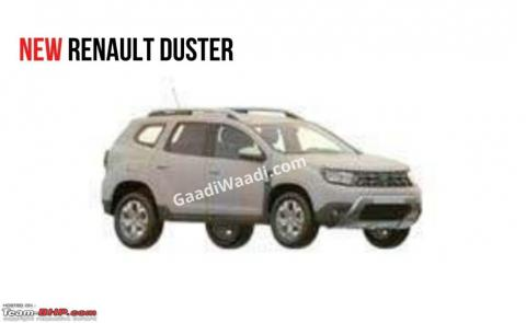 Next-gen Renault Duster design patent filed in India