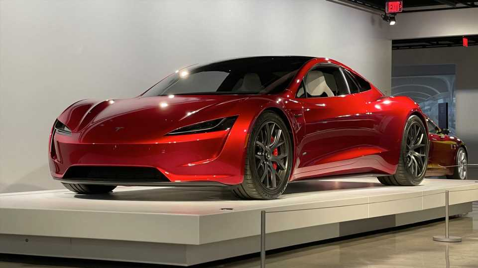 The New Tesla Roadster Prototype Is On Rare Public Display at the Petersen Museum