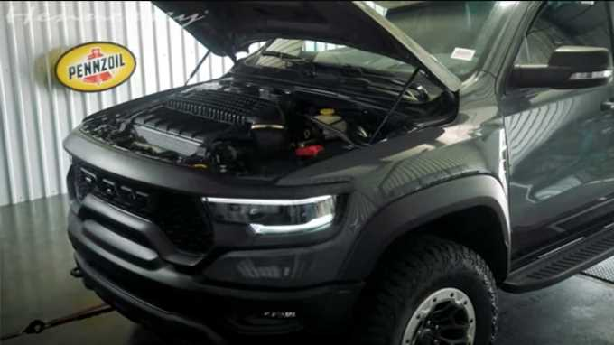 Watch Hennessey's Ram 1500 TRX–Based Mammoth 1000 Hit the Dyno