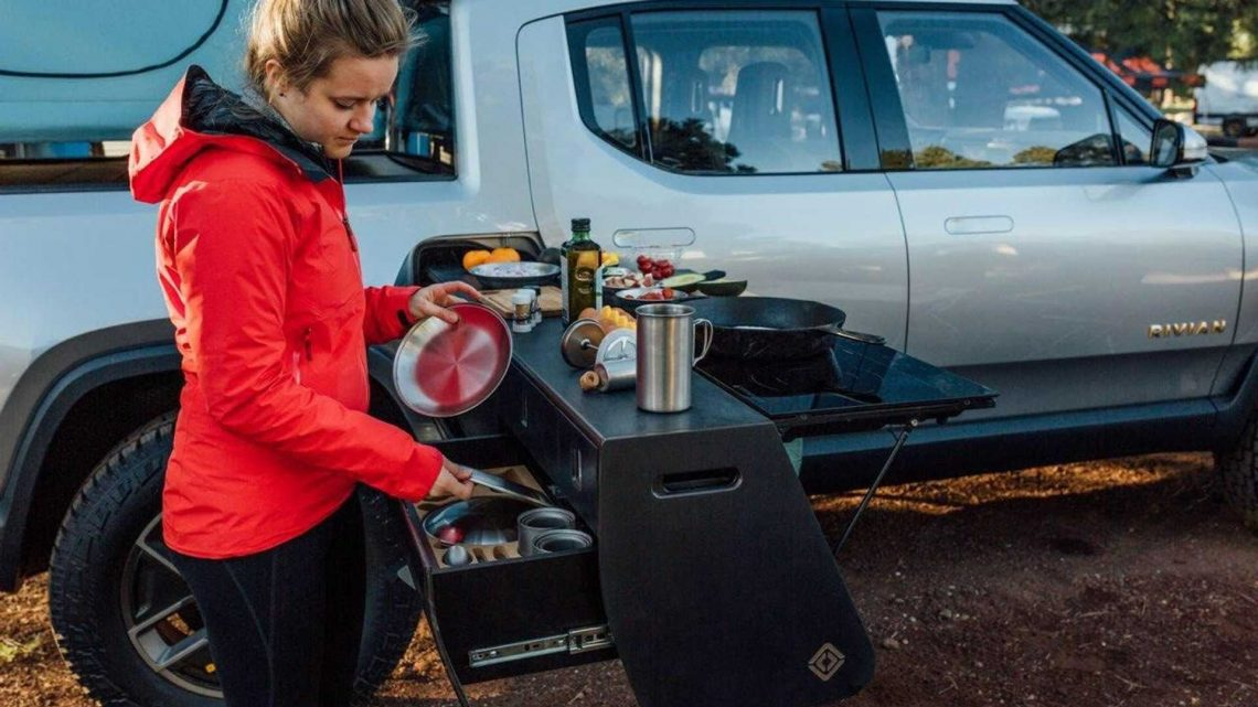 Check Out The Rivian R1T Camp Kitchen Up Close