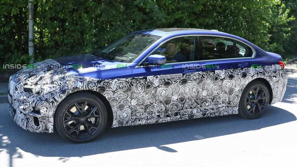 Electric BMW 3 Series Prototype Spotted With Long Wheelbase