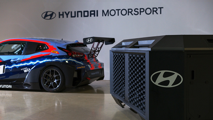Hyundai's HTWO fuel cell generator to power world's first ETCR (Electric Touring Car Racing) category – paultan.org