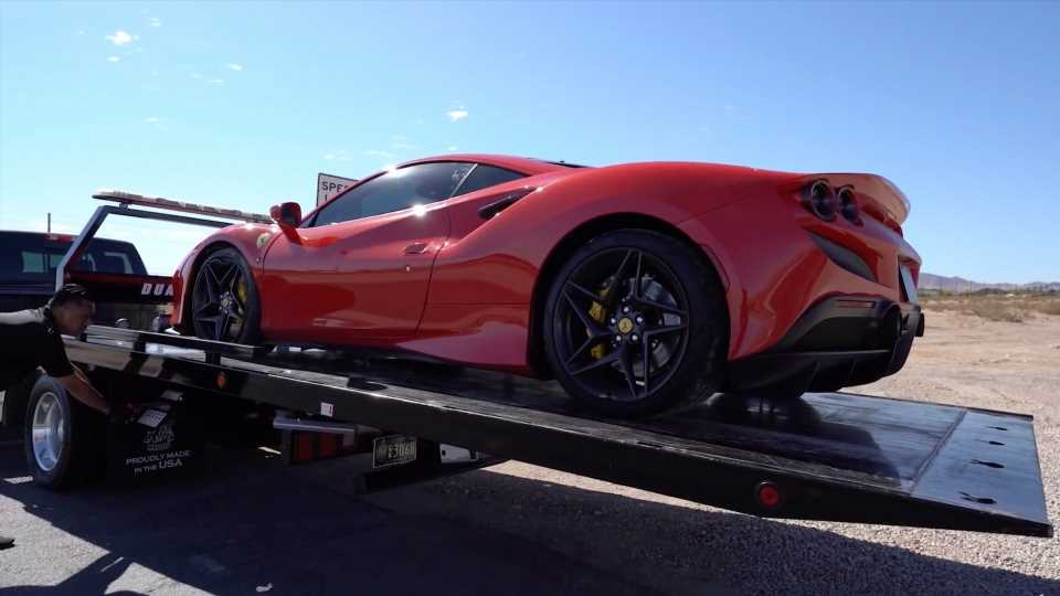 Rental Ferrari F8 Tributo Totaled With Cracked Frame Its First Time Out