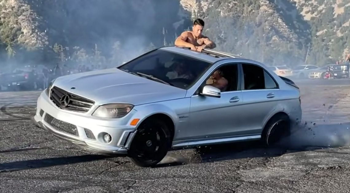 Warning: This Mercedes C63 AMG Drifting Fail Will Cause Severe Wincing