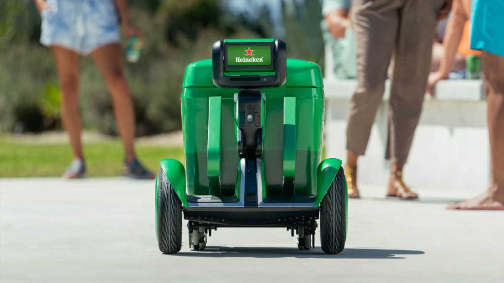 Cheers to the Heineken B.O.T. Self-Driving Beer Delivery Robot