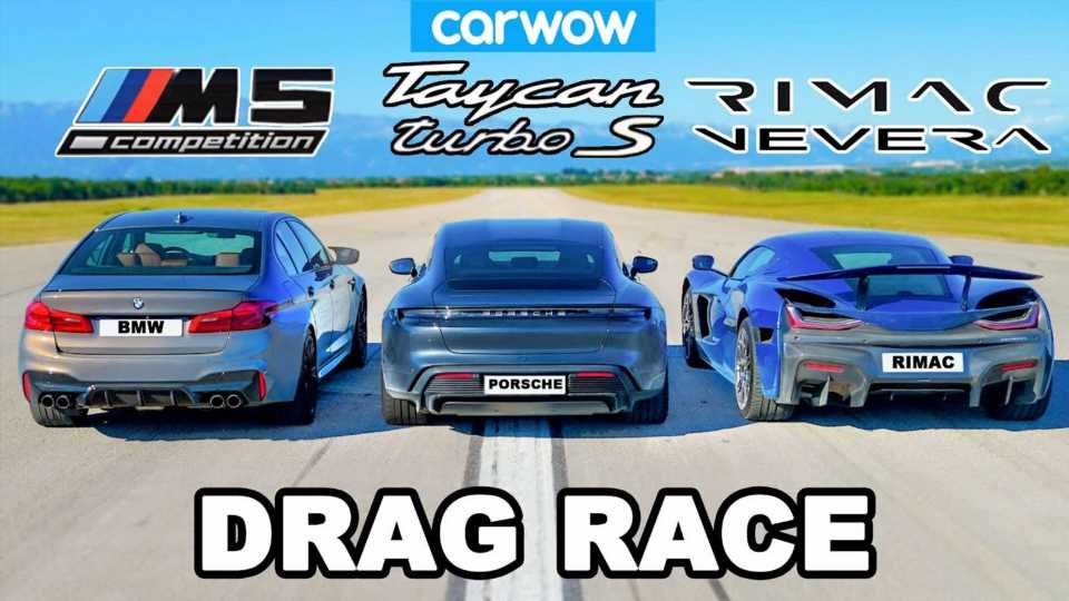 Rimac Nevera Makes Taycan And M5 Look Hopeless In Drag Race