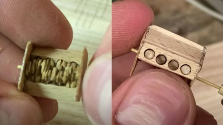 This Miniscule, Functioning Wooden V8 Is A Thing Of Engineering Beauty