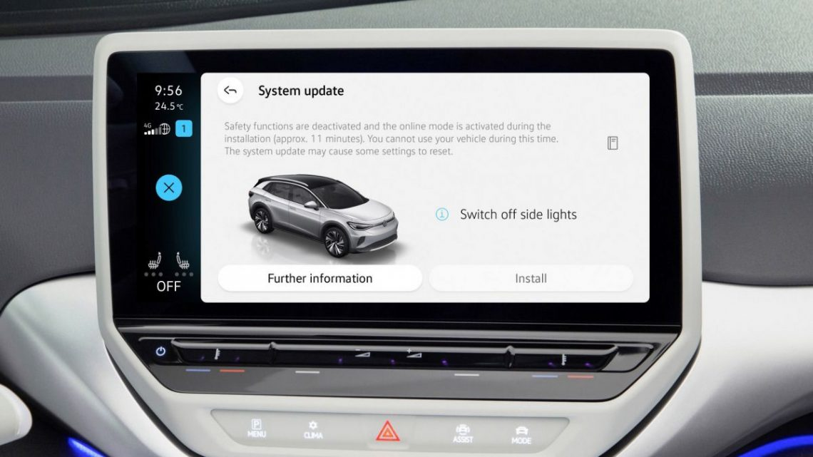 Volkswagen releases first OTA update for ID.3 and ID.4 – paultan.org