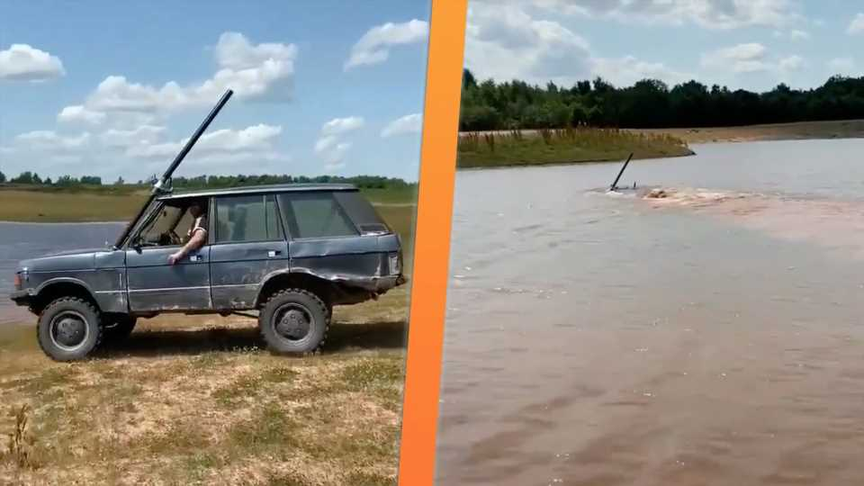 Watch an Old Range Rover Drive Completely Underwater and Come Out the Other Side