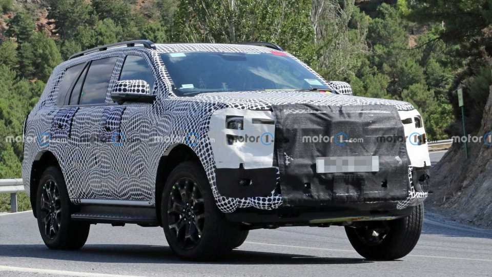 2022 Ford Everest Rugged SUV Spied In Europe Hiding Production Body