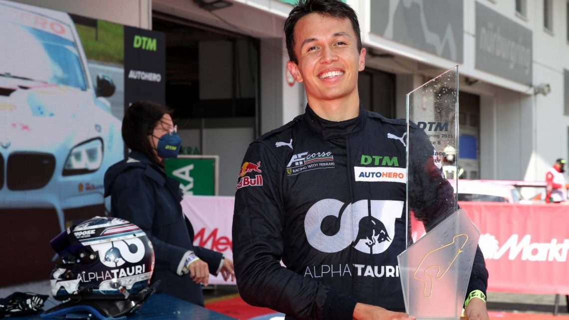 Alex Albon takes maiden pole and victory in DTM at Nurburgring