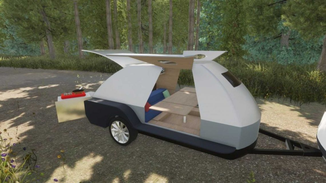 Finally, A Teardrop Camper For EVs With A Giant Battery