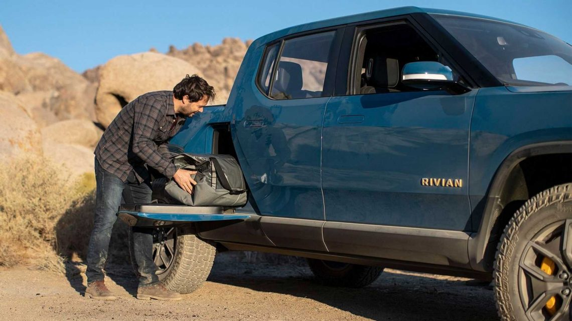 Rivian R1T's Gear Tunnel Is Accessible From Inside The Cabin