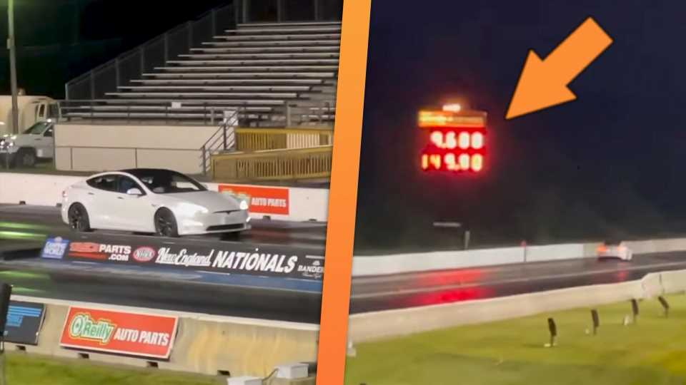 The Tesla Model S Plaid Could Be Too Fast for Your Local Drag Strip