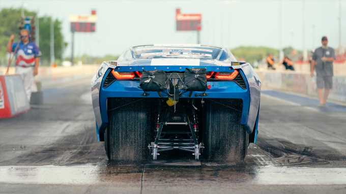 Dave Schroeder and His Pro Mod C7 Corvette Take Overall Win at HOT ROD Drag Week 2021