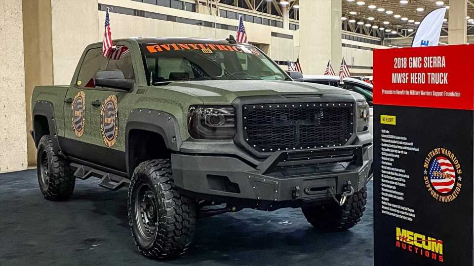 Four Military Vets Upgraded and Wrapped a GMC Truck to Help One of Their Own