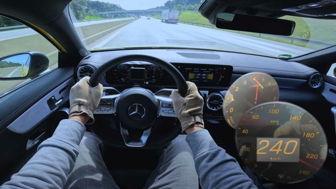 Mercedes A-Class PHEV Electrifies The Autobahn With Top Speed Run