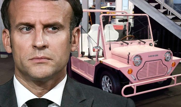 More Macron misery as Mini Moke heads to UK in French snub 'Coming home!'