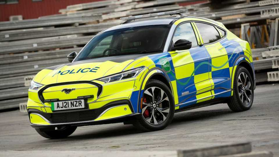 Mustang Makes Its Cop Car Return, But In The UK As A Mach-E Concept
