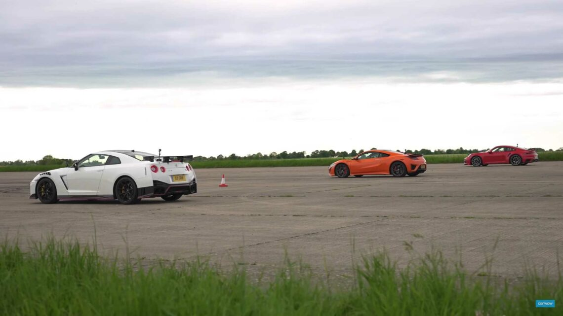 Porsche 911 Turbo S takes on Nissan GT-R Nismo and Honda NSX