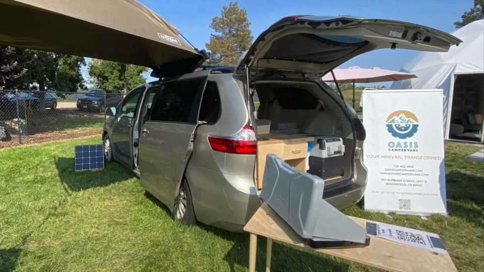 Toyota Sienna Camper Has Everything, Including The Kitchen Sink