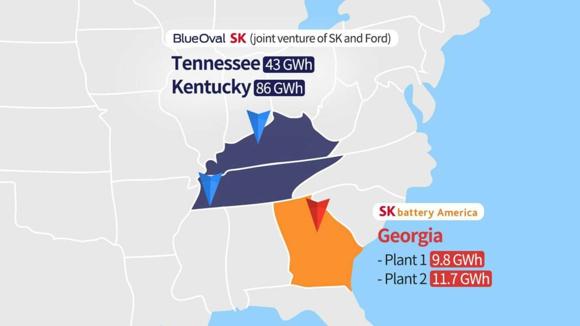 US: SK Innovation Announces Five Battery Plants And 150 GWh/Year