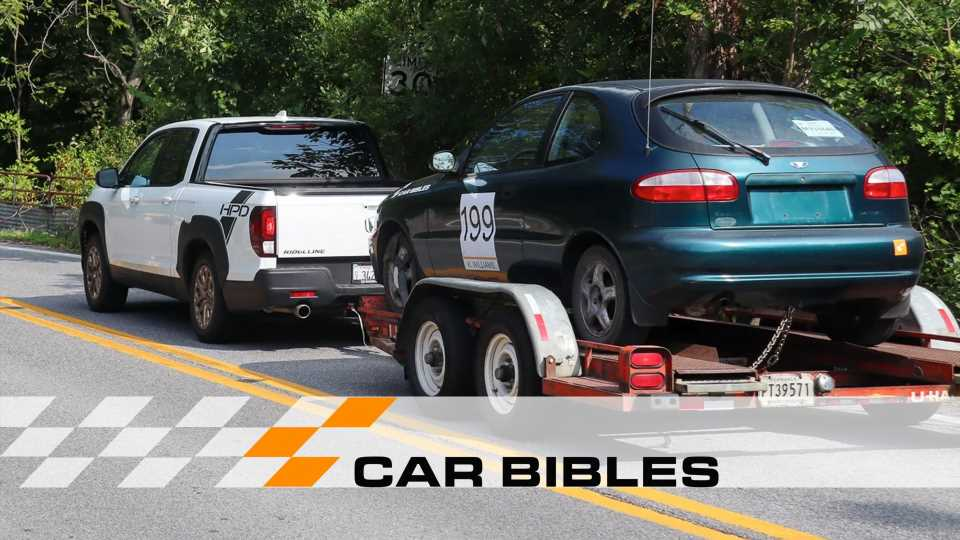 Car Bibles Tested the 2021 Honda Ridgeline's Towing Limits by Hauling a Daewoo Project Car