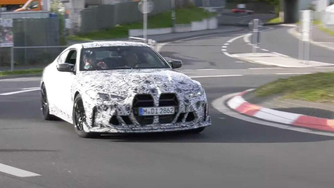 2023 BMW M4 CSL Caught While Doing Some Hot Laps At The Nurburgring