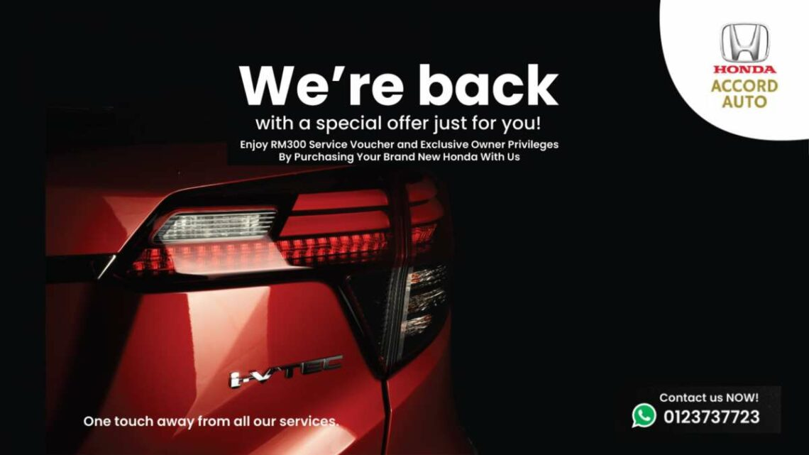 AD: Enjoy a free RM300 service voucher, other rewards when you buy a Honda from Accord Auto this October – paultan.org