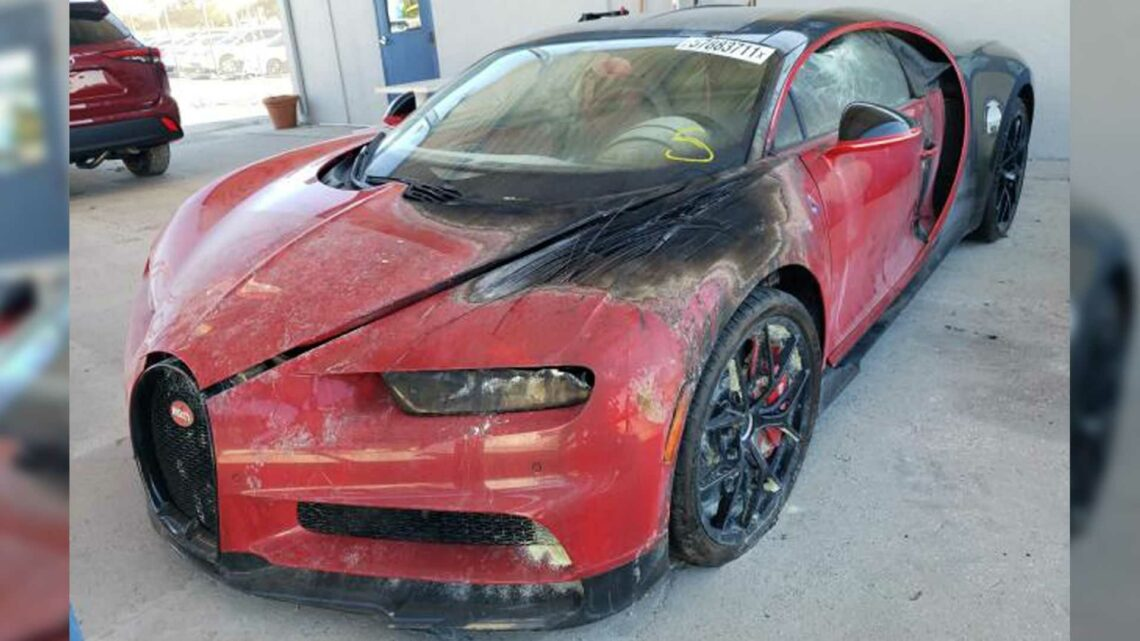 How Much Would You Pay For This Fire-Damaged Bugatti Chiron?