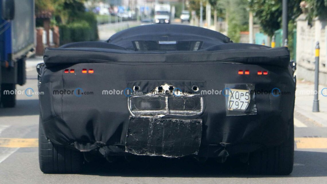New Ferrari Icona Spied Showing Shapely Rear, Center-Exit Exhausts