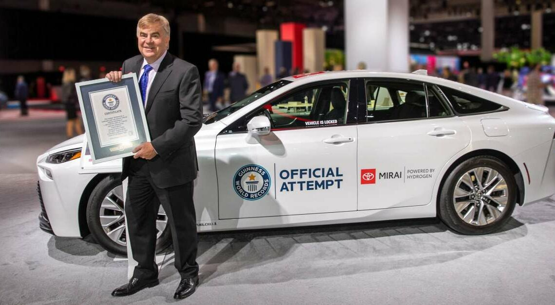 Toyota Mirai travels 1,360 km on one fill of hydrogen without refuelling to set new Guinness World Record – paultan.org